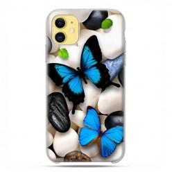Etui case na telefon - Apple iPhone 11 - Niebieskie motyle.