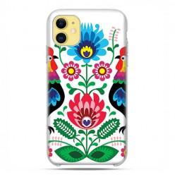Etui case na telefon - Apple iPhone 11 - Łowickie wzory kwiaty.