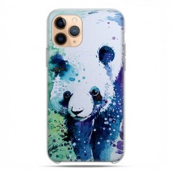 Etui case na telefon - Apple iPhone 11 Pro - Miś panda watercolor.