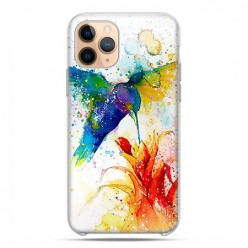 Etui case na telefon - Apple iPhone 11 Pro - Niebieski koliber watercolor.