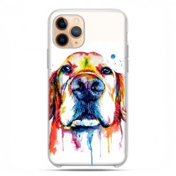 Etui case na telefon - Apple iPhone 11 Pro - Pies labrador watercolor.