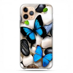Etui case na telefon - Apple iPhone 11 Pro - Niebieskie motyle.