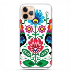 Etui case na telefon - Apple iPhone 11 Pro - Łowickie wzory kwiaty.