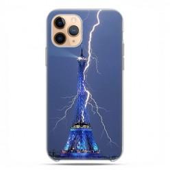 Etui case na telefon - Apple iPhone 11 Pro - Wieża Eiffla z błyskawicą.