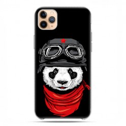 Etui case na telefon - Apple iPhone 11 Pro Max - Panda w czapce.