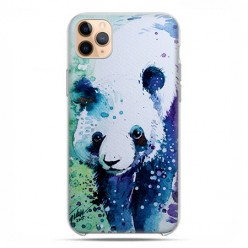 Etui case na telefon - Apple iPhone 11 Pro Max - Miś panda watercolor.