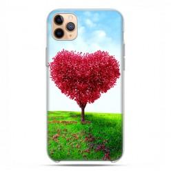 Etui case na telefon - Apple iPhone 11 Pro Max - Serce z drzewa.