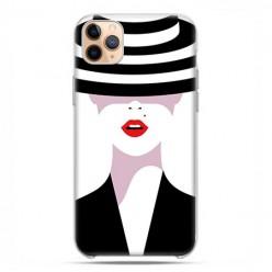 Etui case na telefon - Apple iPhone 11 Pro Max - Kobieta w kapeluszu.