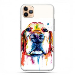 Etui case na telefon - Apple iPhone 11 Pro Max - Pies labrador watercolor.