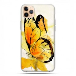 Etui case na telefon - Apple iPhone 11 Pro Max - Motyl watercolor.