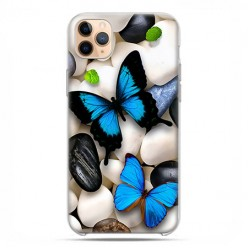 Etui case na telefon - Apple iPhone 11 Pro Max - Niebieskie motyle.