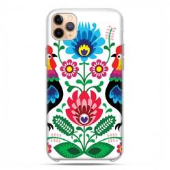 Etui case na telefon - Apple iPhone 11 Pro Max - Łowickie wzory kwiaty.
