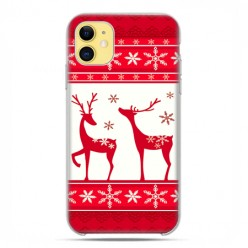 Etui case na telefon - Apple iPhone 11 - Świąteczne Czerwone renifery