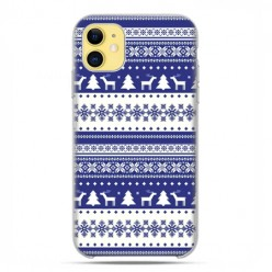 Etui case na telefon - Apple iPhone 11 - Święta Niebieskie renifery