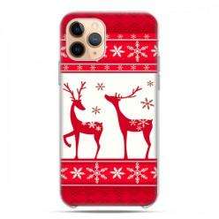 Etui case na telefon - Apple iPhone 11 Pro - Świąteczne Czerwone renifery