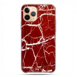 Etui case na telefon - Apple iPhone 11 Pro - Spękany czerwony marmur