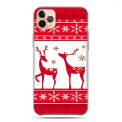 Etui case na telefon - Apple iPhone 11 Pro Max - Świąteczne Czerwone renifery