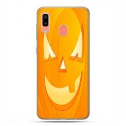 Samsung Galaxy A20E - etui na telefon wzory - Dynia Halloween