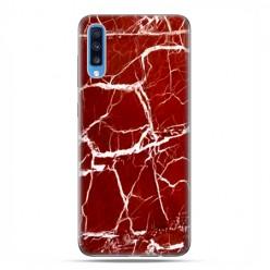 Samsung Galaxy A70 - etui na telefon wzory - Spękany czerwony marmur