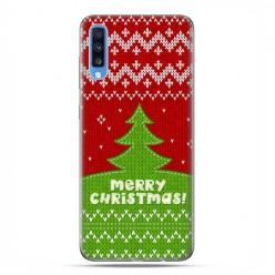 Samsung Galaxy A70 - etui na telefon wzory - Świąteczna choinka sweterek