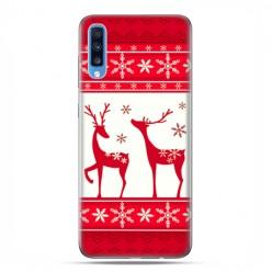 Samsung Galaxy A70 - etui na telefon wzory - Czerwony renifer świąteczne