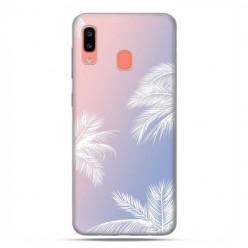 Samsung Galaxy A20E - etui na telefon wzory - Egzotyczne palmy