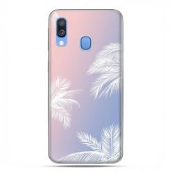 Samsung Galaxy A40 - etui na telefon wzory - Egzotyczne palmy