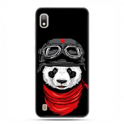Etui case na telefon - Samsung Galaxy A10 - Panda w czapce.