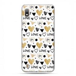 Etui case na telefon - Samsung Galaxy A10 - Serduszka Love.