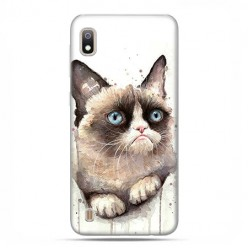 Etui case na telefon - Samsung Galaxy A10 - Kot zrzęda watercolor.
