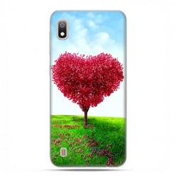 Etui case na telefon - Samsung Galaxy A10 - Serce z drzewa.