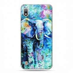 Etui case na telefon - Samsung Galaxy A10 - Kolorowy słoń.