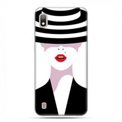 Etui case na telefon - Samsung Galaxy A10 - Kobieta w kapeluszu.