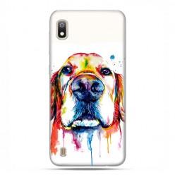 Etui case na telefon - Samsung Galaxy A10 - Pies labrador watercolor.