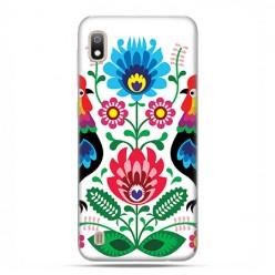 Etui case na telefon - Samsung Galaxy A10 - Łowickie wzory kwiaty.