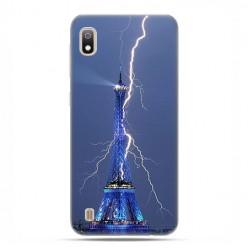Etui case na telefon - Samsung Galaxy A10 - Wieża Eiffla z błyskawicą.