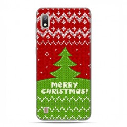 Etui case na telefon - Samsung Galaxy A10 - Świąteczna choinka sweterek