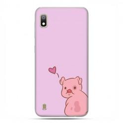 Etui case na telefon - Samsung Galaxy A10 - Zakochana świnka