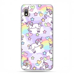 Etui case na telefon - Samsung Galaxy A10 - Zakochane jednorożce