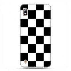Etui case na telefon - Samsung Galaxy A10 - Sportowa szachownica
