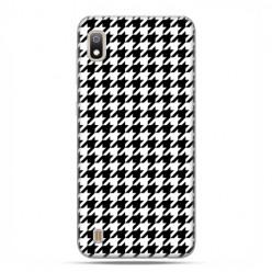 Etui case na telefon - Samsung Galaxy A10 - Pepitka czarno biała