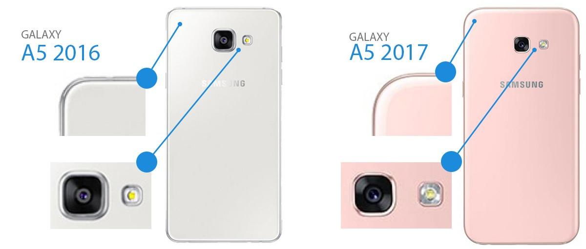 porównanie modeli telefonów galaxy a5 2016 i a5 2017